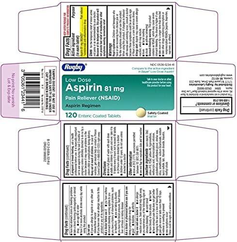 Nutrition - ASPIRIN EC TAB Shipping included 81 MG 120 Soldering