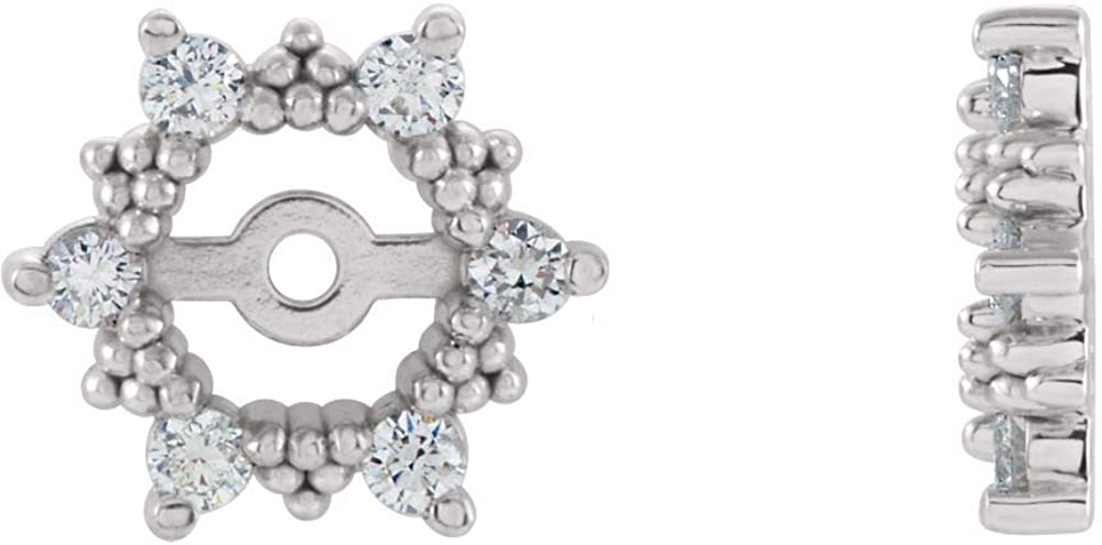 FB Jewels 14K Yellow Gold Diamond Earrings Jacket