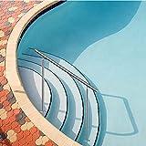 LHL-DD Barandillas para Piscinas: Juego de barandillas de Acero Inoxidable para 0-4 escalones Barandillas Exteriores de ángulo Ajustable Fácil instalación