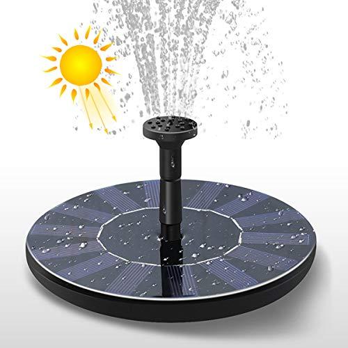 Vohoney Solar Springbrunnen Solar Fontäne Pumpe Teichpumpe Garten Wasserpumpe (1.5 W Solar Springbrunnen)