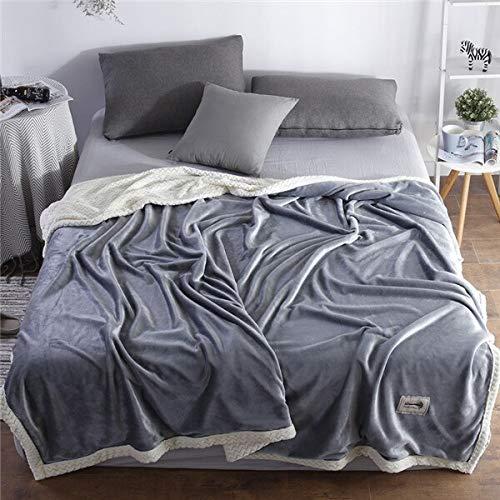 RONGXIE Nieuwe winterwollen deken Frettchen kasjmier deken super warme deken fleece plaid super warme zachte werpen op slaapbank home camping beddengoed 150X200CM 7