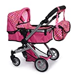 fash n kolor Foldable Pram for Baby Doll with Polka Dots...