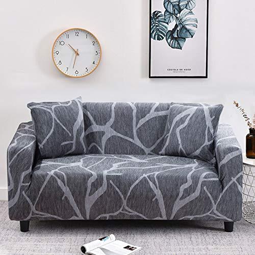 WXQY Funda de sofá geométrica Floral para Sala de Estar Funda de sofá elástica en Forma de L Funda de sillón de Esquina Funda de sofá Funda de Muebles A17 3 plazas