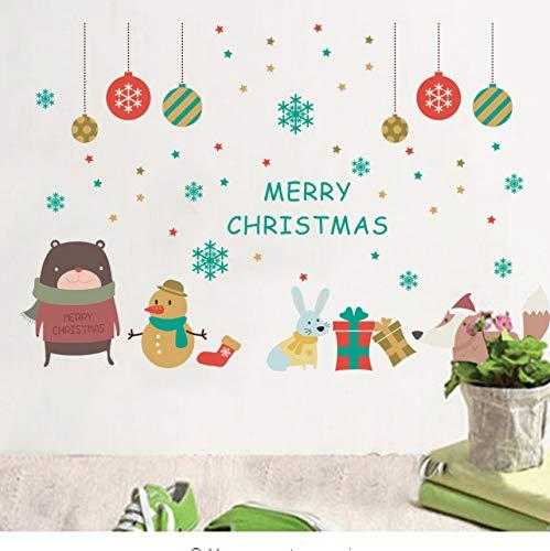 DIY Weihnachtsdekoration Glocken Schneemann Schneeflocke Geschenk Deer Wandaufkleber Abziehbilder Shop Fenster Dekor Neujahr Geschenk Dekor Poster
