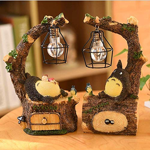 Mi vecino Totoro Night Light Studio Ghibli Lámpara de mesa LED Totoro Night Lamp para niños Decoración de cabecera para niños Baby Girls Mejores regalos de Navidad (C)