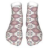 Böhmische Floral Printed Casual Funny Socks for Men und Women, Cute Novelty Pattern Socks