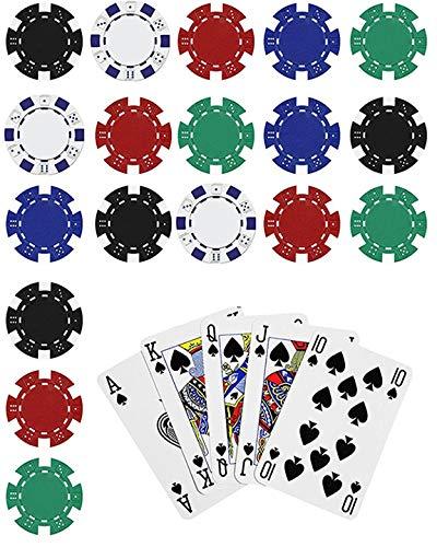 Poker Edible Cake Topper Royal Flush Cake Topper Casino Chips, Blue, 1/4 sheet size - D22888