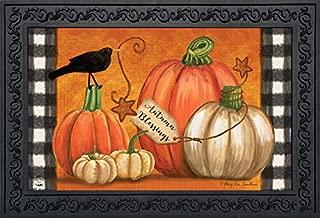 Briarwood Lane Rustic Pumpkins Fall Doormat Primitive Crow Indoor/Outdoor 18