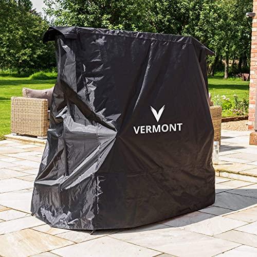 Vermont skydd för bordtennisbord | 2-i-1 Design | Passar både hopfällda och utfällda ping-pong bord | Vindtätt Inomhus/Utomhus skyddsöverdrag | Kraftigt skydd för pingisbord