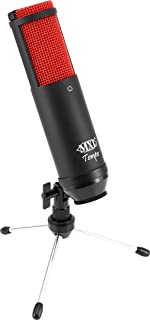 MXL, 1 USB Condenser Microphone, Black/Red, 2.95 x 5.91 x 12.20 inches TEMPO-KR
