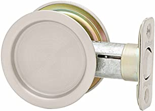 Kwikset 334 Round Hall/Closet Pocket Door Lock in Satin Nickel