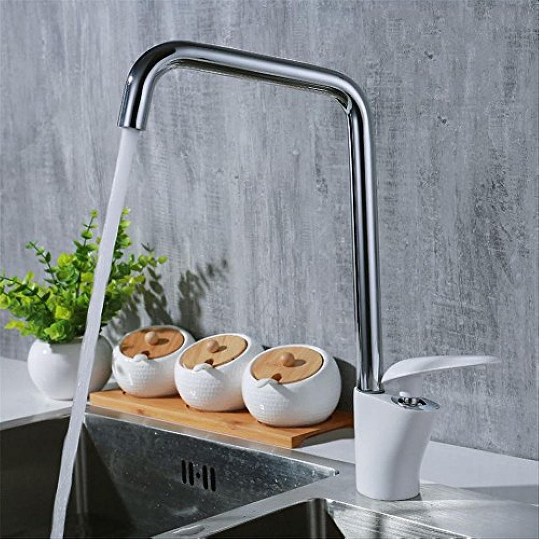 AQMMi Wasserhahn Bad Waschbecken Waschtisch Farbe Warmes Und Kaltes Wasser Messing Schwenken Mischbatterie Waschbeckenarmatur Für Badezimmer