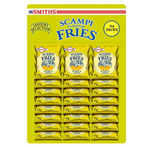Smiths Savoury Snacks Scampi and lemon Fries Carded Pub Favourites Snacks, 27 g (Pack of 24)