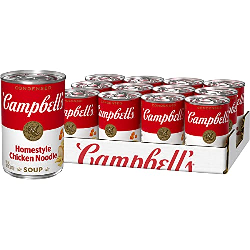 Campbell's Condensed Homestyle Chicken Noodle Soup, 10.5 Ounce Can (Pack of 12) (Packaging May Vary)