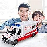 RC Hospital Rescue Ambulancia Policía Cars Niños Radio-Controlado Car Truck Camión Vehículos Control Remoto Modelo Educativo Niños Edad 3+ Navidad Cumpleaños para juegos de interiores Niños Niños Chic