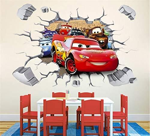 3D Lightning McQueen Autos Ebenen XXL Wandaufkleber Kindergarten Kinder Schlafzimmer Entfernbarer Wandaufkleber Wandgemälde Abziehbild Dekor Baby Dekoration