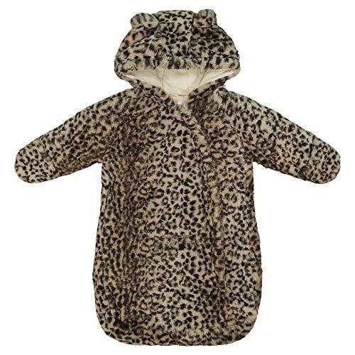 Carter's baby girls Bundle Up Cozy Pram Bag With Ears Snowsuit, Cheetah Print, 0 6MO US