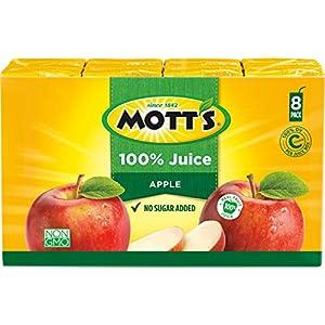 Mott's Original Apple 100% Juice, 6.75 Fluid Ounce Juice Box, 8 Count |