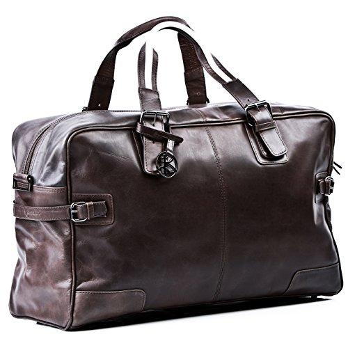 BACCINI® borsa da viaggio vera pelle ROBERTO grande...