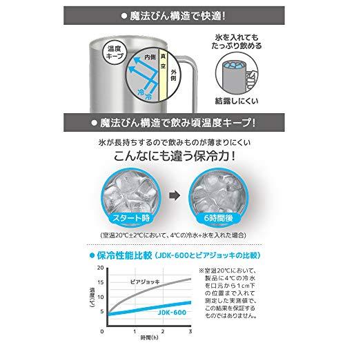 サーモス真空断熱ジョッキ600mlステンレス1JDK-600S1