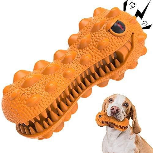 Royal Pets House Hund Quietschendes Kauspielzeug Dyno | Robuster haltbarer Gummi | Zahnbürstenspielzeug für Kauen | Hunde Zahnpflege und Zahnreinigung | Hilft Plaque zu entfernen