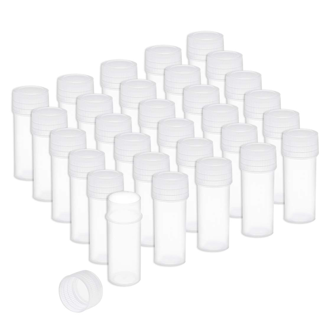 uxcell Plastic Sample Choice Bottle 5ml Stor Wide cheap Mouth 0.17oz Sealing