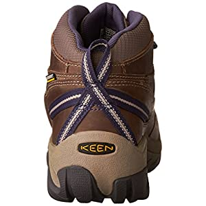 KEEN Women's Targhee II MID WP-W Hiking Boot, goat/crown blue, 7.5 M US