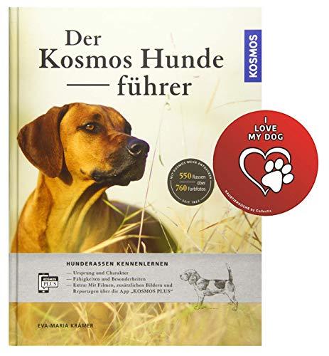 KOSMO Der Kosmos-Hundeführer: Hunderassen kennenlernen Gebundenes Buch + I Love My Dog Sticker