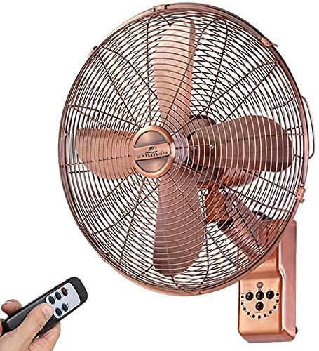 Ventilador de pared de la pared de la pared oscilante de montaje en pared con control remoto y control remoto 3 Ajustes de velocidad Ventilador de pared, para hogar, ventilador colgante, bajo ruido, a