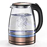 HadinEEon Electric Kettle 1.7L Glass Electric Tea Kettle (BPA Free) Cordless Teapot, Portable Electric Hot Water Kettle...
