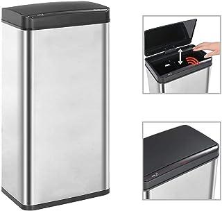 vidaXL Papelera Sensor Automático Acero Inoxidable Residuos