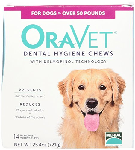 Merial 14 Count Oravet Dental Hygiene Chew for Large Dogs