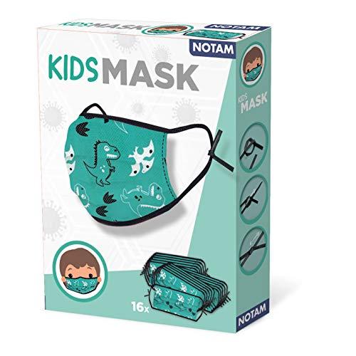 SES creative 89901 Mund-Nase Maske, Unisex-Kinder, grün