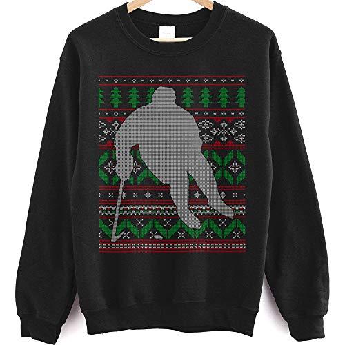 Hockey Player Skating Ice Skate Goal Celly Happy Holidays Sweatshirt - Best Gift for Any Purpose T-Shirt, Sweatshirt, Hoodie Black