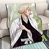 KaiWenLi Bleach-Urahara Kisuke Remove Hat/Cartoon Anime Blanket/Single-Sided Pattern Digital Printing/Soft and Comfortable/Best Bedding for Winter Heating