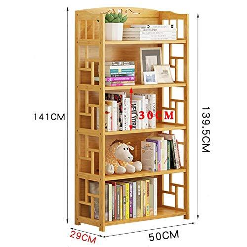 PNYGJU praktische boekenkast van bamboe voor boekenkast, multifunctionele kast, vloerstaander, verdikt opslagrek, multifunctioneel voor thuis of op kantoor