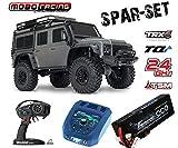 Traxxas 82056-4 TRX-4 Land Rover Crawler 2,4GHz grau + 5000mAh 2S Lipo + 5A Schnell-Lader TRX4