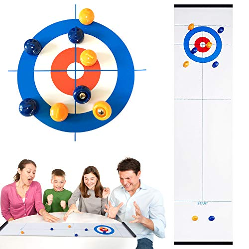 Check Out This Novsix Family Tabletop Game for Kids Compact Curling Board Game Mini Tabletop Games f...