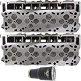 2 x NEW Improved 6.0 Ford Powerstroke Diesel LOADED Cylinder Head PAIR 03-07 No Core (18MM)