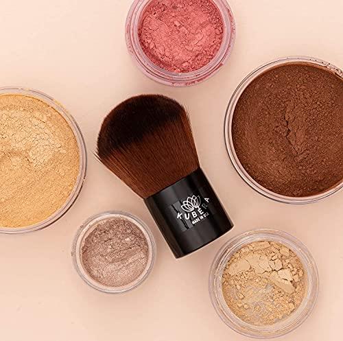 Kabuki Makeup Brush, KUBERA Makeup Brush Made in the USA I Vegan 100% Synthetic Hair Brush for Women I Foundation Brush I Buffing I Blending I Face Brush for Cream and Powder Makeup I Large Powder Brush