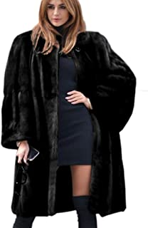 53ca1bdc8a95 Roiii Ladies Coat Women Winter Vintage Outerwear Faux Fur Long Trench Parka  Jacket Size 8-