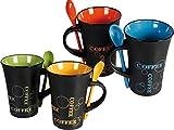 LIVIVO FiNeWaY Juego de 4Tazas de café con Cuchara Juego de té Tazas de café...