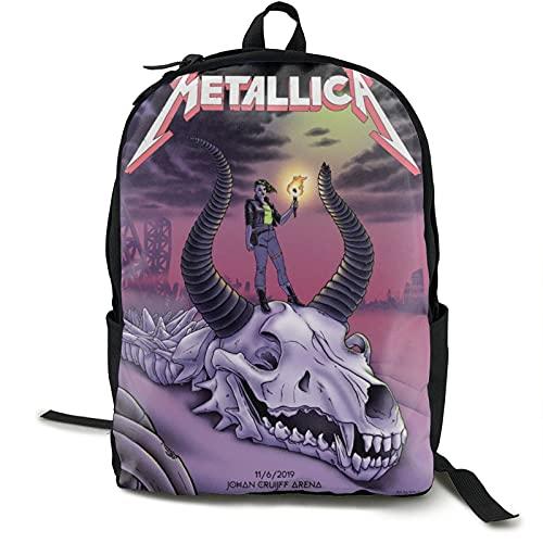Metallica Skull - Mochila antirrobo para portátil