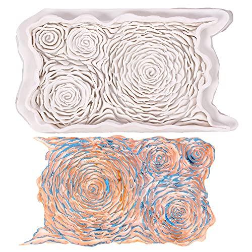 LXWLXDF-Molde para hornear, Molde De Pastel De Flor De Rosa 3D, Molde De Fondant De Flores, Molde De Silicona Para Hornear Arcilla De Chocolate