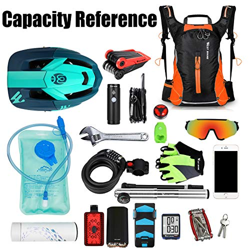 16L Waterproof Cycling Backpack,Mountain Bike Accessories for Men, Breathable Lightweight Running Rucksack, Cycling gifts for men Daily Commutes, Jogging, Hiking,Skiing, Trekking (with Rain Cover)