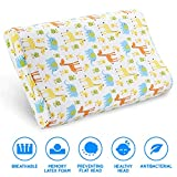 Kids Toddler Pillow- Kids Pillows for Sleeping- Children's Latex Memory Foam Pillow with Organic Cotton Pillowcase for Baby Boys Girls Age 1-8 Years Old