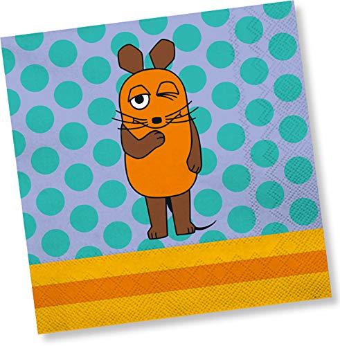 DH-Konzept Die Maus Servietten 20 Stück // Kindergeburtstag Sendung mit der Maus