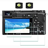 A6600 Screen Protector Appliable for Sony Alpha A6600 Camera & Hot Shoe Cover,ULBTER 0.3mm 9H Hardness Tempered Glass Flim, Anti-Scrach Anti-Fingerprint Anti-Bubble Anti-Dust [3 Pack]
