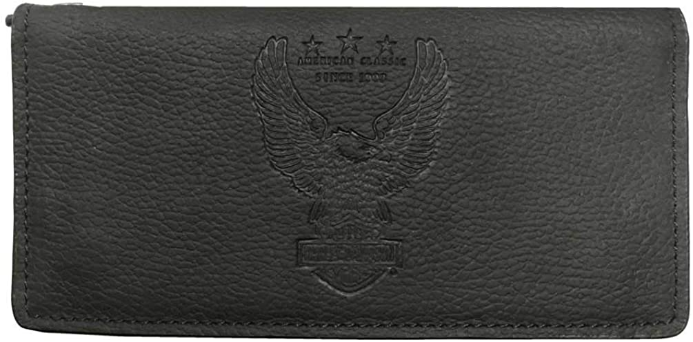 Harley-Davidson Men's Liberty Eagle Trucker Leather Wallet w/RFID HDMWA11673