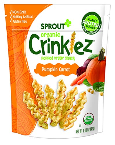 Sprout Organic Baby Food Toddler Snacks Crinklez, Pumpkin Carrot, 1.48 Ounce Bag (Pack of 1)